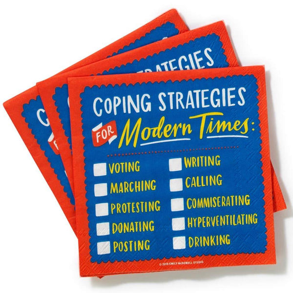 COPING STRATEGIES FOR MODERN TIMES PAPER NAPKIN PACK