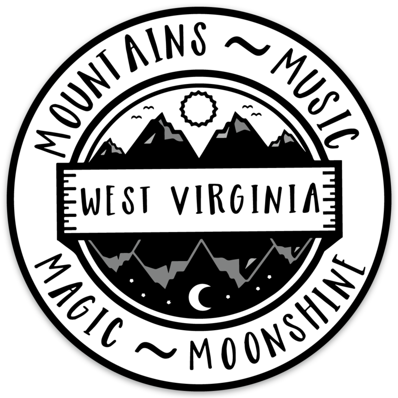 MOUNTAINS MUSIC MAGIC MOONSHINE - STICKER