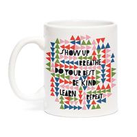 SHOW UP & BREATHE MUG