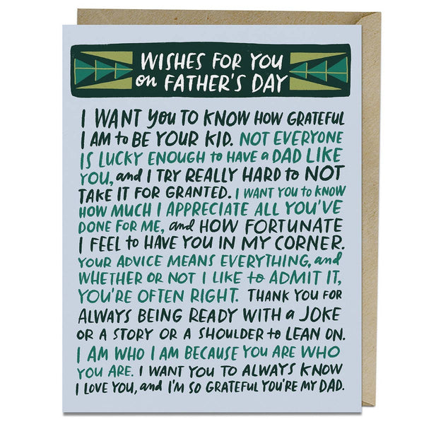 WISHES FOR YOU FATHER'S DAY CARD