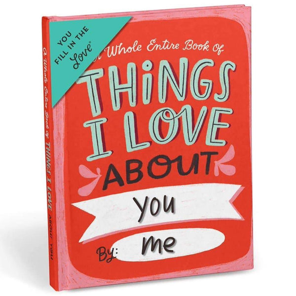 THINGS I LOVE ABOUT YOU FILL IN BOOK