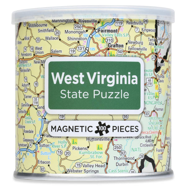 WEST VIRGINIA STATE MAP MAGNETIC PUZZLE