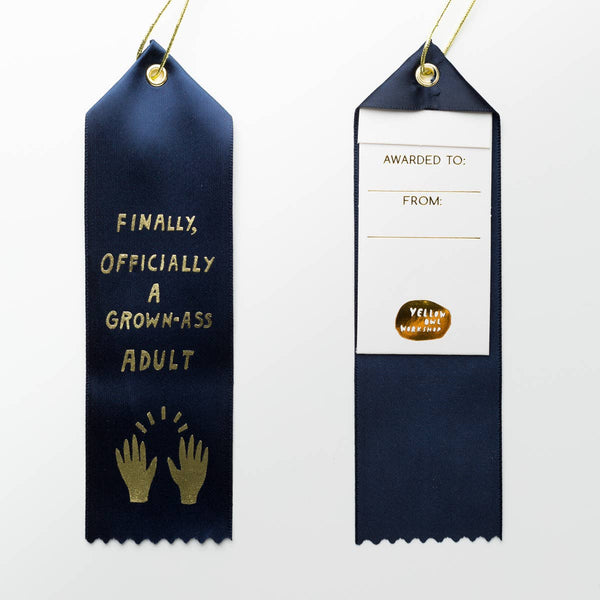 GROWN-ASS ADULT AWARD RIBBON