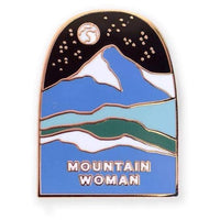 MOUNTAIN WOMAN ENAMEL PIN