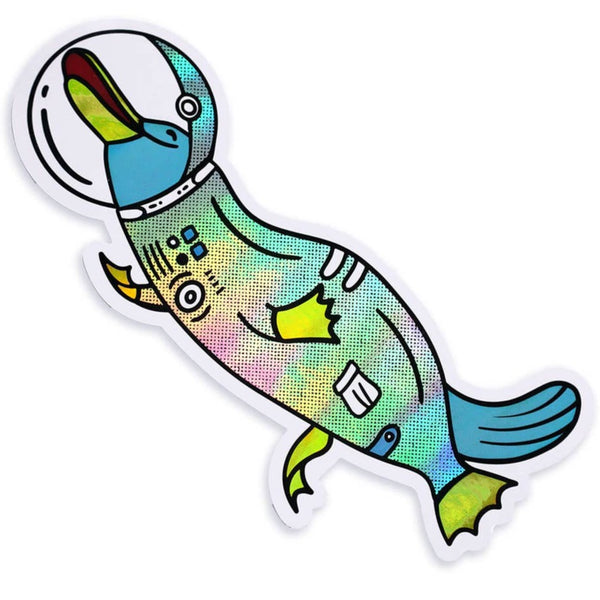 SPACE PLATYPUS HOLOGRAPHIC STICKER