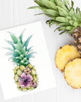 FLORAL PINEAPPLE WATERCOLOR SET
