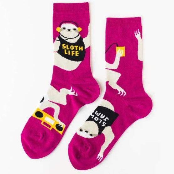 SLOTH LIFE WOMEN'S CREW SOCKS