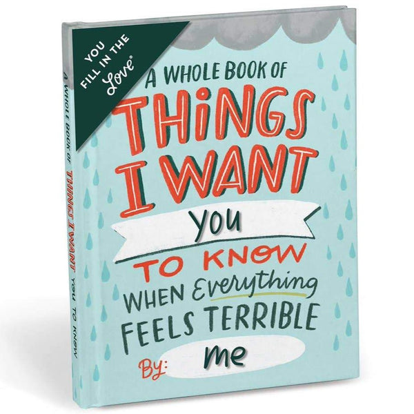 THINGS I WANT YOU TO KNOW... FILL IN BOOK