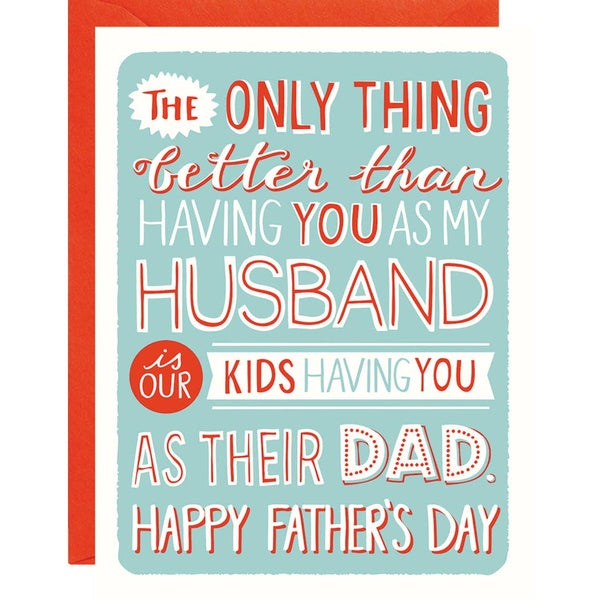 HUSBAND AND DAD FATHER'S DAY CARD