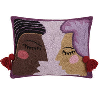DUET WOOL HOOKED PILLOW