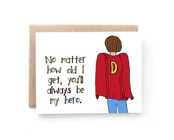 ALWAYS MY HERO FATHER'S DAY CARD