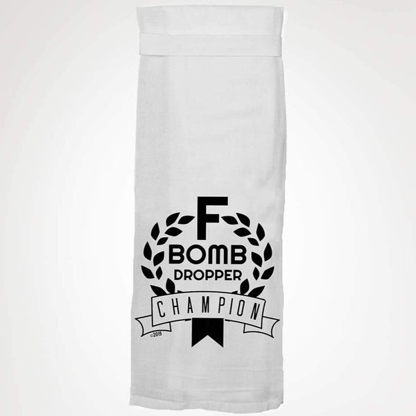 F-BOMB DROPPER CHAMPION TEA TOWEL