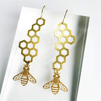 HONEYBEE & HONEYCOMB EARRINGS