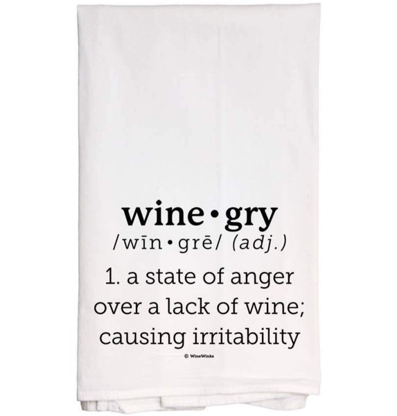 WINE-gry TEA TOWEL