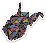 GEOMETRIC WEST VIRGINIA STICKER