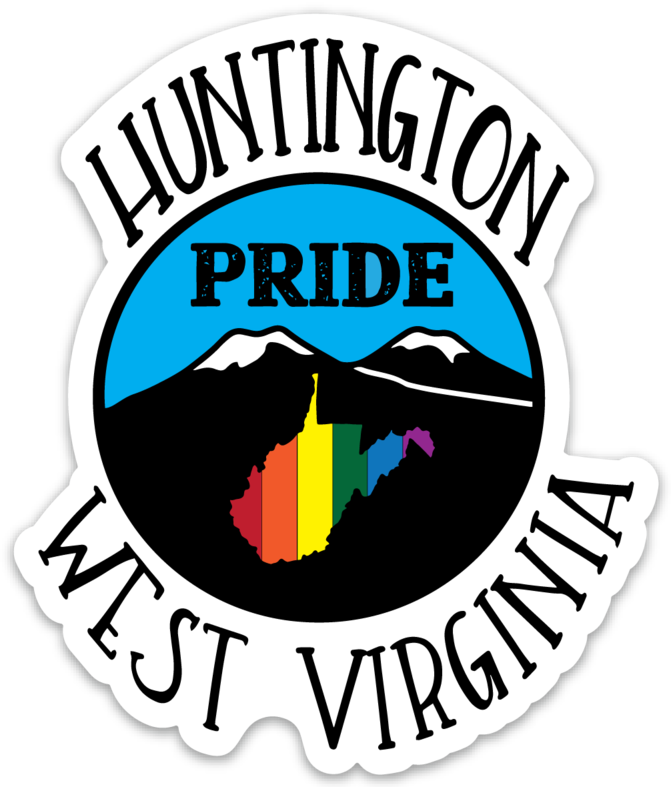 HUNTINGTON WEST VIRGINIA PRIDE STICKER