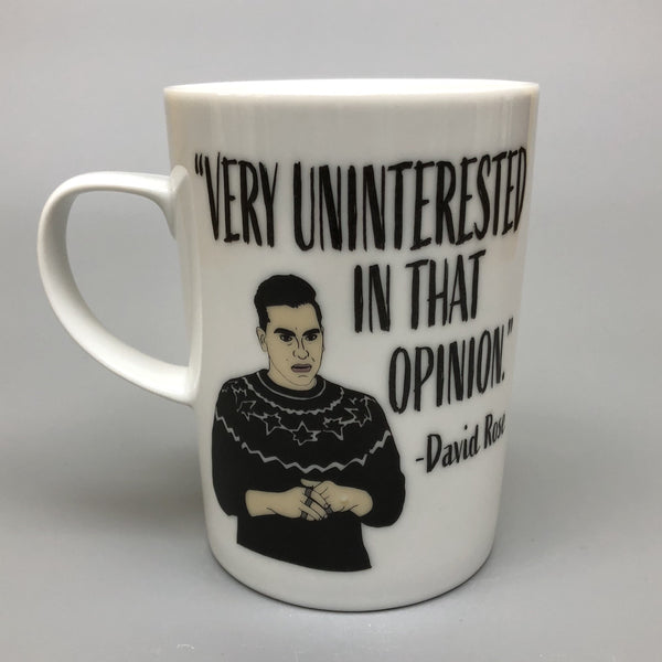 DAVID ROSE VERY UNINTERESTED MUG