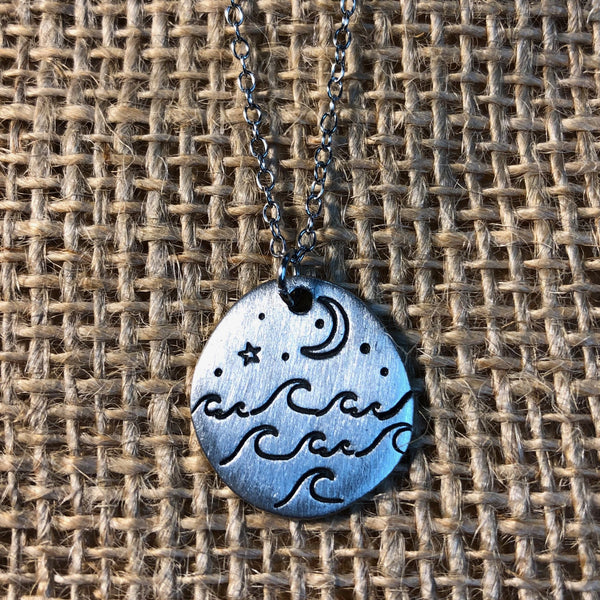 MOONLIT WAVES NECKLACE
