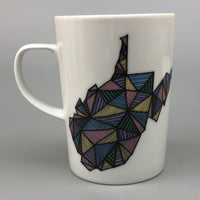 GEOMETRIC WEST VIRGINIA COFFEE MUG