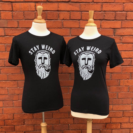 STAY WEIRD BEARD T-SHIRT