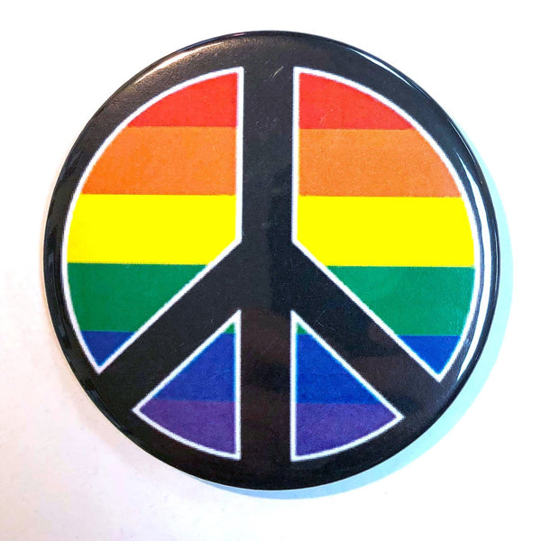 RAINBOW PEACE SIGN MAGNET