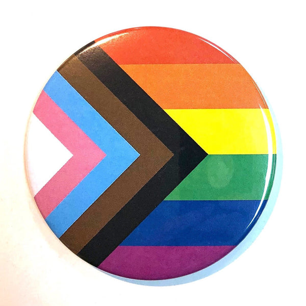 PROGRESS PRIDE FLAG MAGNET