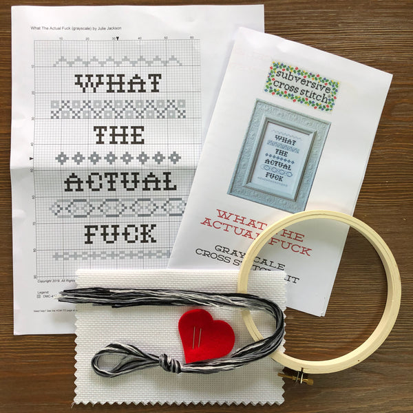 CROSS STITCH KIT - WHAT THE ACTUAL FUCK