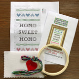 CROSS STITCH KIT - HOMO SWEET HOMO