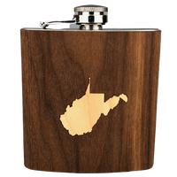 WOOD INLAY FLASK - WEST VIRGINIA
