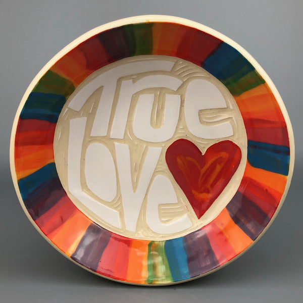 TRUE LOVE RAINBOW HANDMADE BOWL