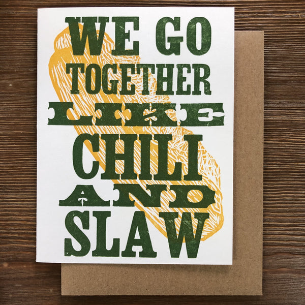 CHILI & SLAW ANNIVERSARY CARD