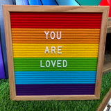 RAINBOW COLOR BLOCK FELT LETTER BOARD