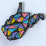 COLORFUL GEOMETRIC WEST VIRGINIA - ENAMEL PIN