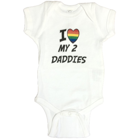 I HEART MY 2 DADDIES ONESIE