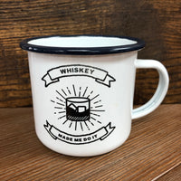 CAMP MUG - WHISKEY MADE ME DO IT