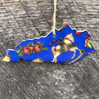 HANDMADE CERAMIC KENTUCKY PATTERNED ORNAMENT