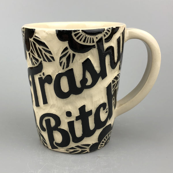 TRASHY BITCH SITTING POSSUM HANDMADE MUG