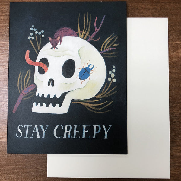 STAY CREEPY HALLOWEEN CARD