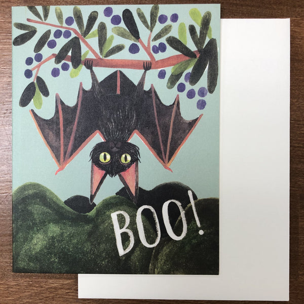 BOO! BAT HALLOWEEN CARD