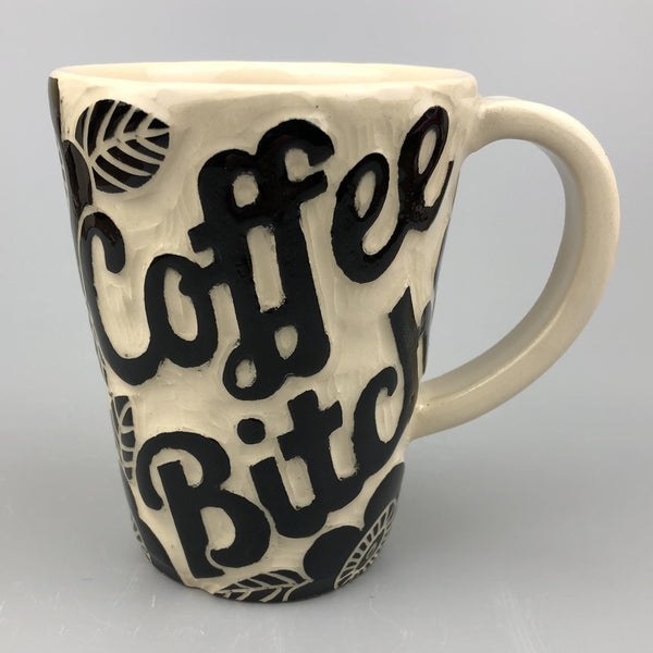 COFFEE BITCH CAT HANDMADE MUG