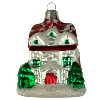 GLASS ORNAMENT - COTTAGE