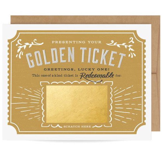 GOLDEN TICKET DIY SCRATCH-OFF CARD