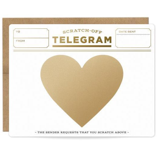 TELEGRAM HEART DIY SCRATCH-OFF CARD