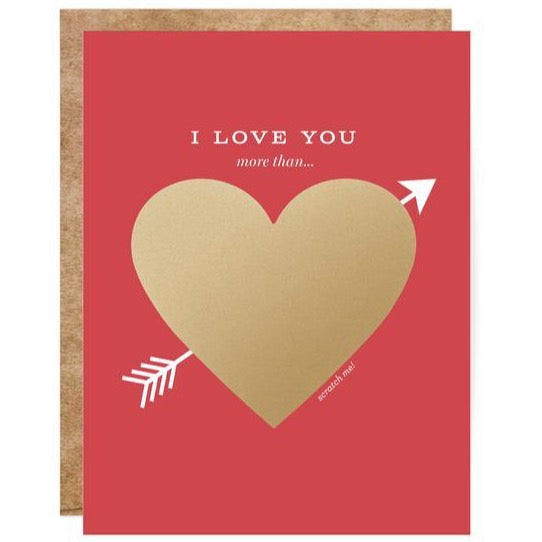 LOVE YOU MORE THAN... HEART DIY SCRATCH-OFF CARD