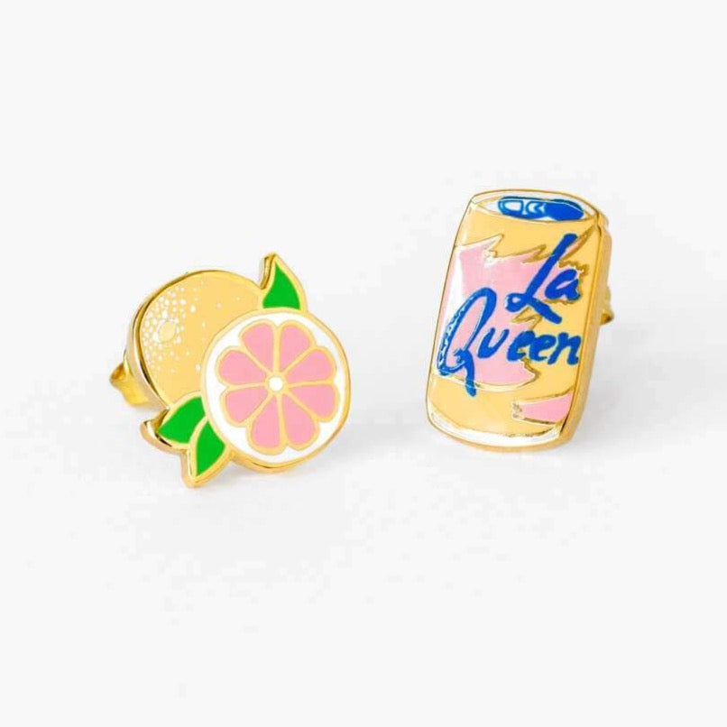 LA QUEEN & GRAPEFRUIT EARRINGS