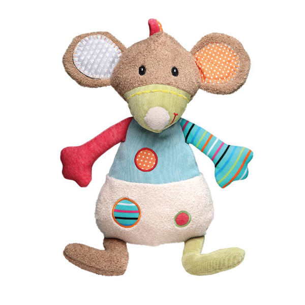 STORKI BIG STUFFED MOUSE FRIEND WITH RATTLE