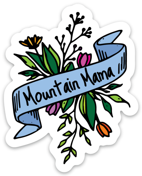 MOUNTAIN MAMA FLOWERS - STICKER
