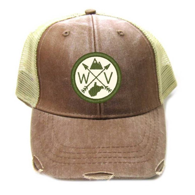 WV - Mud & Olive Patched Trucker Hat