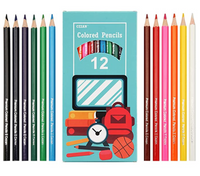 SET OF 12 COLORED PENCILS