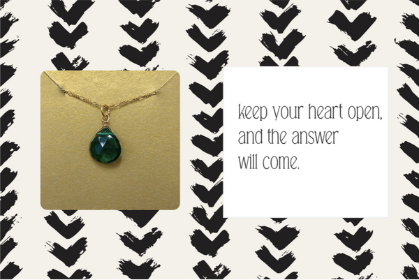 GEMSTONE NECKLACE - KEEP YOUR HEART OPEN...